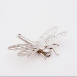 Dragonfly, casting, piercing & wirework